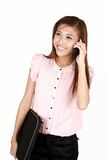 Young asian businesswoman on the phone. Stock Photo