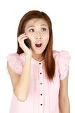 Young asian businesswoman on the phone. Stock Photography