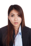 Young Asian businesswoman shocked Stock Photography