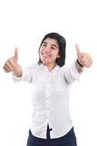 Young Asian Businesswoman Showing Two Thumbs Up Stock Image