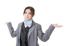 Young asian businesswoman shrugging Stock Photography