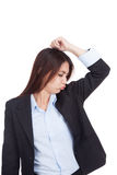 Young Asian businesswoman smell her armpit Royalty Free Stock Photos