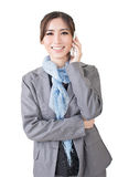 Young asian businesswoman speaking on the cell phone Royalty Free Stock Photos
