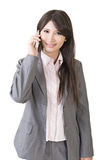 Young asian businesswoman speaking with mobile phone Stock Photos