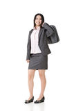 Young asian businesswoman standing with a handbag Stock Photography