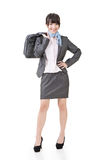 Young asian businesswoman standing with a handbag Stock Photo