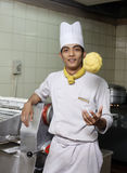 Young asian chef posing Royalty Free Stock Photography