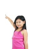 Young asian child 006. Young asian child series on white background Royalty Free Stock Image