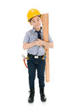 Young asian child construction engineer Holding equipment Stock Images