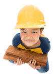 Young asian child construction Worker Holding equipment Stock Photos