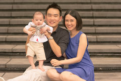 Young Asian Chinese Family With 5 Month Old Son Royalty Free Stock Image