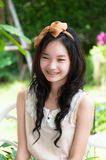 Young asian chinese woman smiling Royalty Free Stock Images