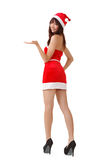 Young Asian Christmas girl Royalty Free Stock Images