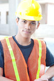 Young asian construction worker Stock Photography