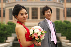 Young Asian couple Stock Images