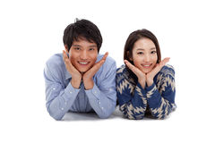 Young Asian couple Royalty Free Stock Image
