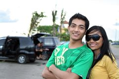 Young asian couple Royalty Free Stock Photography