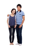 Young Asian couple full shot Royalty Free Stock Photo