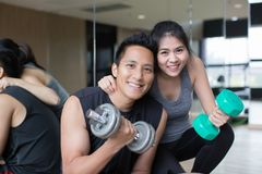 Healthy young couple royalty free stock photography