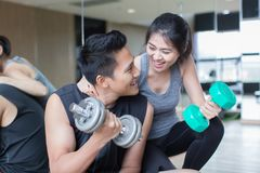 Healthy young couple stock photography