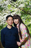 Young asian couple in spring Stock Photo