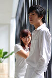 Young Asian Couple sulking royalty free stock photography