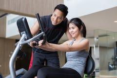 Asian couple workout stock photos
