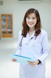 Young asian doctor at hospital Royalty Free Stock Photo