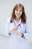 Young asian doctor at hospital Stock Photo