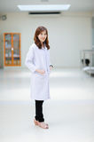 Young asian doctor at hospital Royalty Free Stock Images