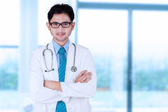 Young asian doctor in hospital Stock Image