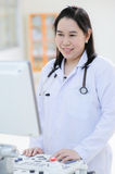 Young asian doctor in hospital Royalty Free Stock Photography