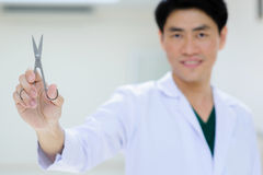 Young asian doctor portrait in hospital Stock Photo