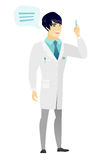 Young asian doctor with speech bubble. Stock Photo