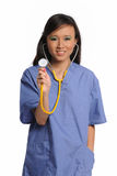 Young Asian Doctor with Stethoscope Royalty Free Stock Photos