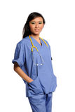 Young Asian Doctor with Stethoscope Stock Photo