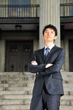 Young Asian Executive waiting 6 Royalty Free Stock Image