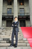 Young Asian Executive waiting 7 Royalty Free Stock Image