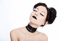 Young asian female with black makeup Royalty Free Stock Image