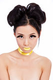 Young asian female with creative makeup Stock Image