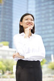 Young Asian female executive smiling Stock Image