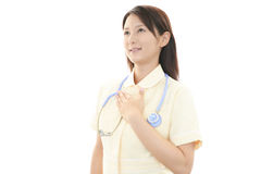 Young Asian female nurse. Portrait of an Asian female nurse Stock Image