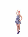 Young Asian Female In Short Dress Royalty Free Stock Photography