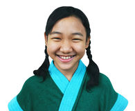 Young asian girl. Young asian teen in dressing gown royalty free stock photos