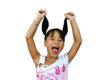 Young asian girl. Screaming Royalty Free Stock Photos