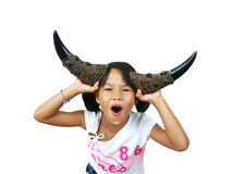 Young asian girl. Screaming Royalty Free Stock Photography