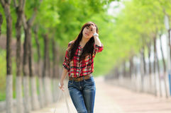 Young Asian girl in alameda Stock Image