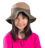 Young Asian Girl With Angler Hat II Stock Photography