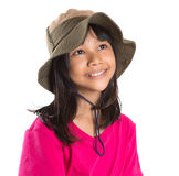 Young Asian Girl With Angler Hat III Stock Photo