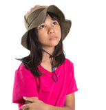 Young Asian Girl With Angler Hat VI Stock Image
